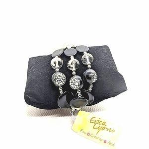 ♠️+ NEW! Erica Lyons 3 in 1 black Bracelet